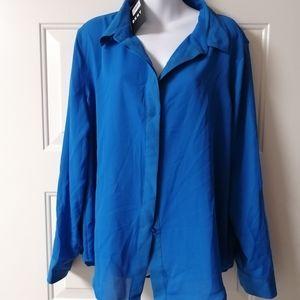 Dkny blouse long Sleeve Xl